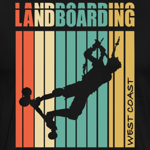 Kite Landboarding WEST COAST - T-shirt Premium Homme