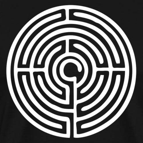 Labyrinth Schutzsymbol Lebensweg Magie Mystik - Männer Premium T-Shirt