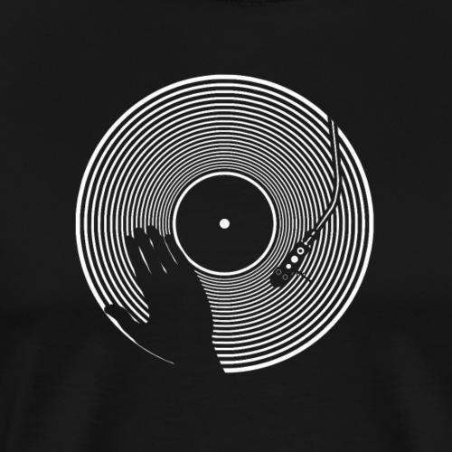 GIRADISCHI T SHIRT NERA - Maglietta Premium da uomo