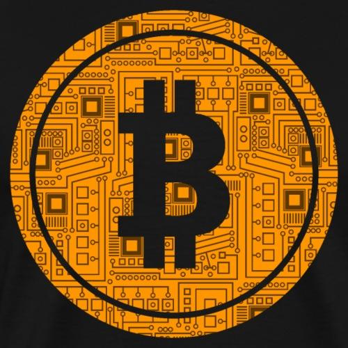 Bitcoin Symbol Platine Schaltung Technik Shirt - Männer Premium T-Shirt