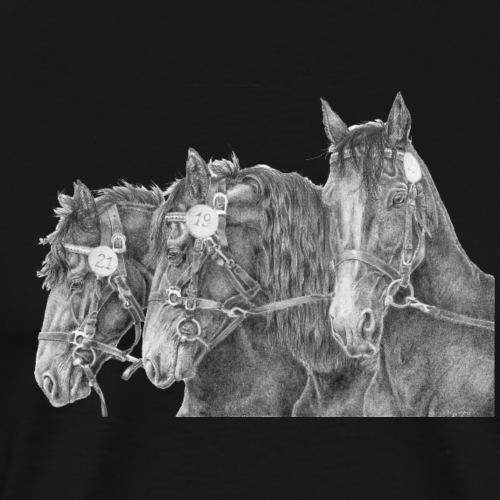Friesian horse - Herre premium T-shirt