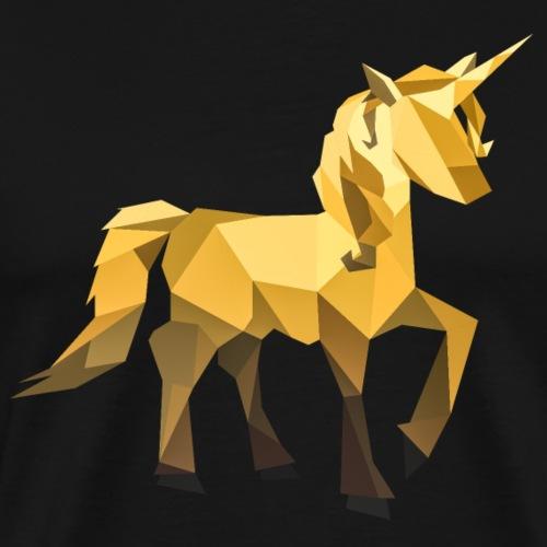 Einhorn - Golden - Polygon Kunst