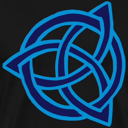 Vektor keltisch Triquetra mit Ring Symbol Geschenk - Männer Premium T-Shirt