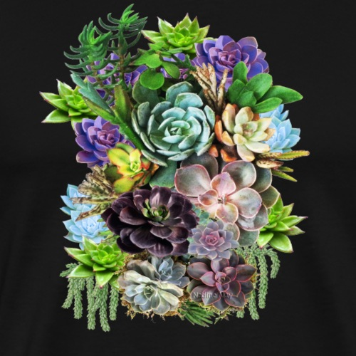 Succulents - Men's Premium T-Shirt