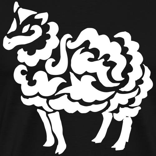 Tribal Schaf Wolle Tattoo Lustig Geschenkidee - Männer Premium T-Shirt