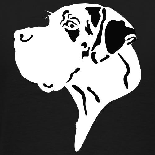 Doggenkopf gefleckt - Great Dane Head - Männer Premium T-Shirt