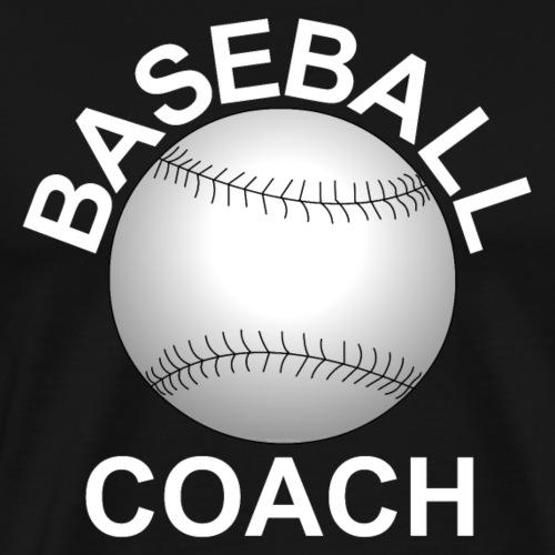 Baseball Coach White Text