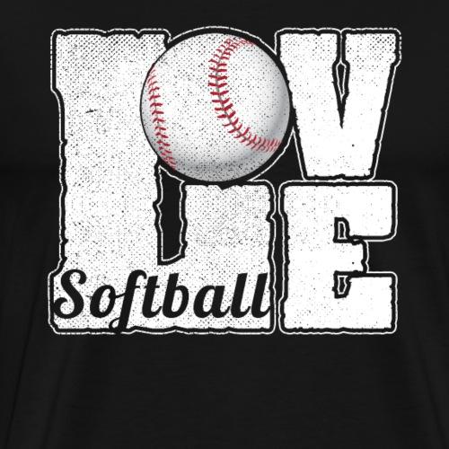 SOFTBALL LOVE - Männer Premium T-Shirt
