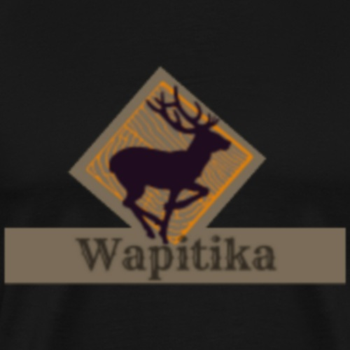 Logo Wapitika avec nom - Men's Premium T-Shirt