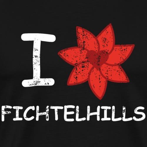 I love fichtelhills - Männer Premium T-Shirt