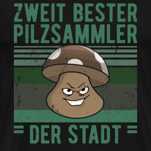 Pilze ZWEITBESTER PILZSAMMLER lustig - Männer Premium T-Shirt