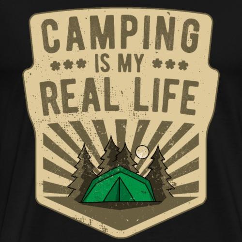 Camping is my Real Life Zelten Outdoor Camp lustig - Männer Premium T-Shirt