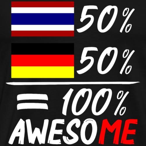 50% Thai 50% Deutsch - Männer Premium T-Shirt