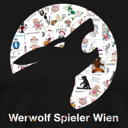 Werwolf Logo Spielkarten - Männer Premium T-Shirt