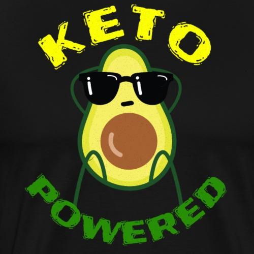 Keto powered - Keto Low Carb T-Shirt - Männer Premium T-Shirt