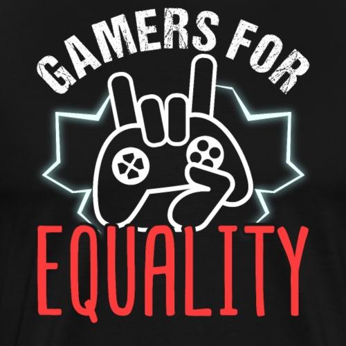 Gamers For Equality - Männer Premium T-Shirt