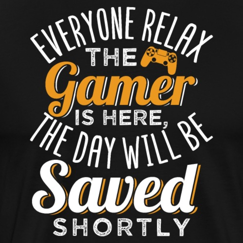 Relax The Gamer Is Here - Männer Premium T-Shirt