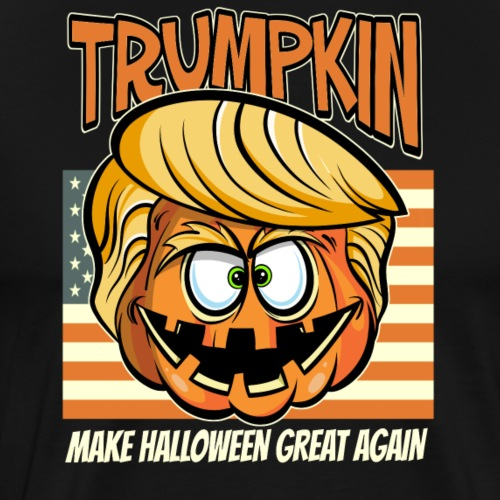 Trumpkin Donald Trump Halloween - Männer Premium T-Shirt