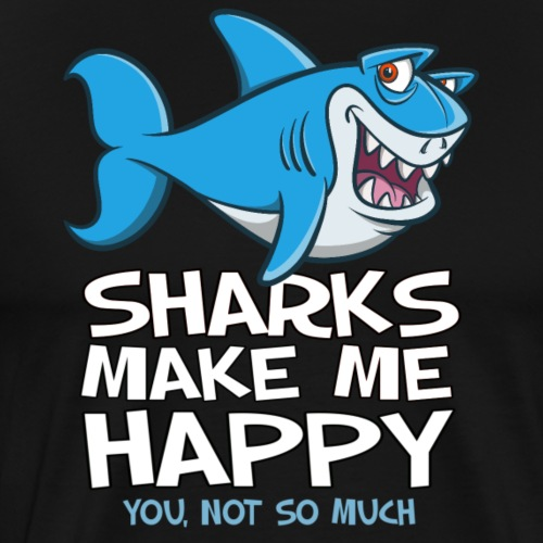 Sharks make me happy - Haifisch - Männer Premium T-Shirt