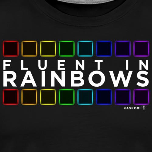 Fluent In Rainbows // Kaskobi - Men's Premium T-Shirt