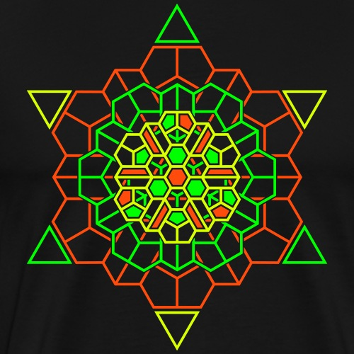 Cosmic Crystal Front - Miesten premium t-paita