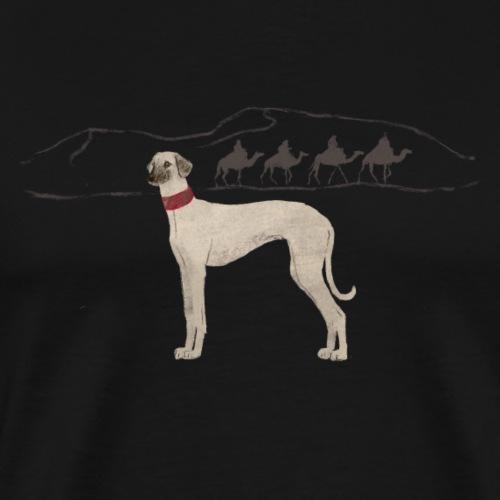 Sloughi mit Karawane - Männer Premium T-Shirt