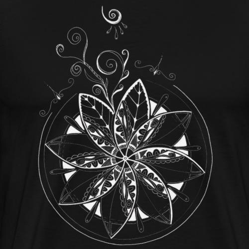 Mandala in weiss, intuitiv und handgemalt - Männer Premium T-Shirt