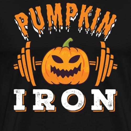 Pumpkin Iron   Halloween Workout - Männer Premium T-Shirt