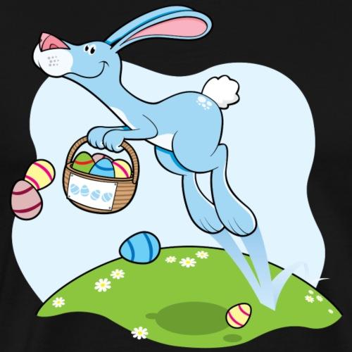 Happy Hopping Easter Bunny - Men's Premium T-Shirt