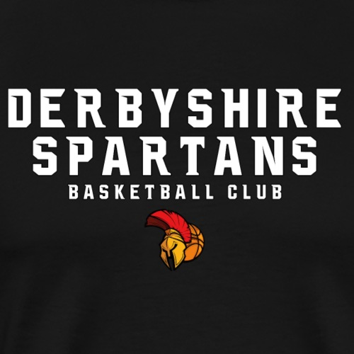 Derbyshire Spartans Basketball Club - White Text - Men's Premium T-Shirt