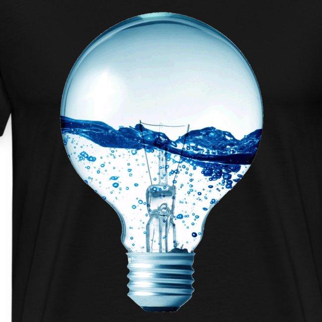 lampadina con acqua