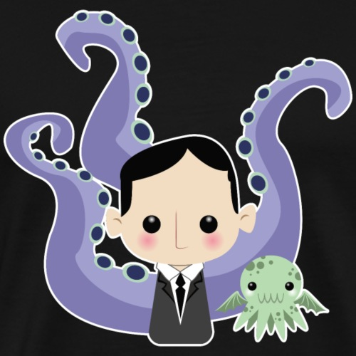 Lovecraft and Cthulhu - Maglietta Premium da uomo