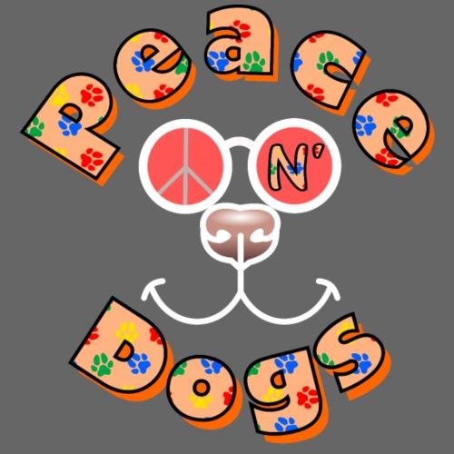 Peace n' Dogs (support foncé)