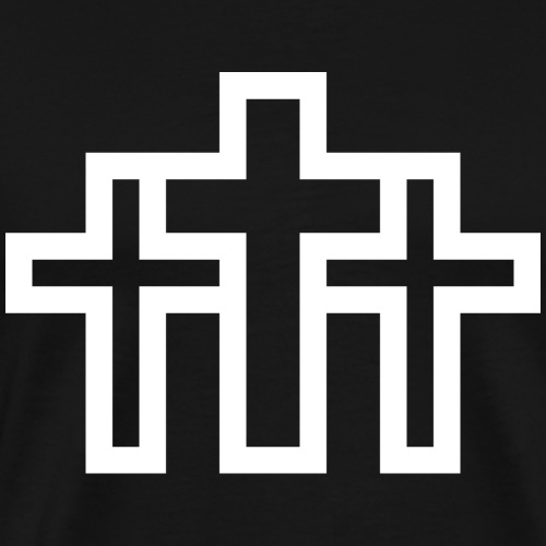 Jesus Kreuz Pixel Design - Männer Premium T-Shirt