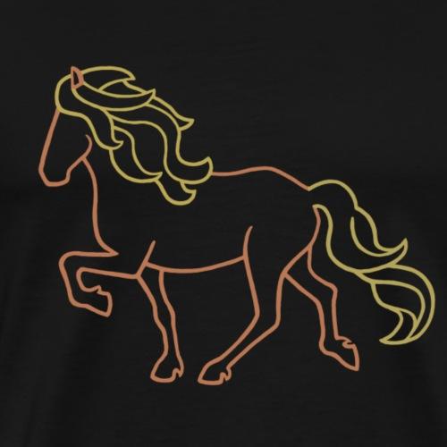 Islandpferd, braun - Männer Premium T-Shirt