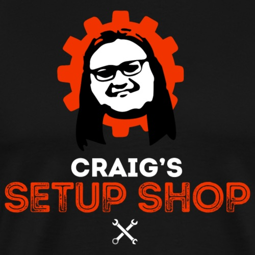 Craigs Setup Shop on black - Men's Premium T-Shirt