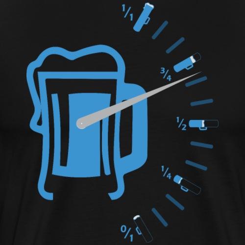 Nivel Depósito de Cerveza Medidor Cerveza Azul - Camiseta premium hombre