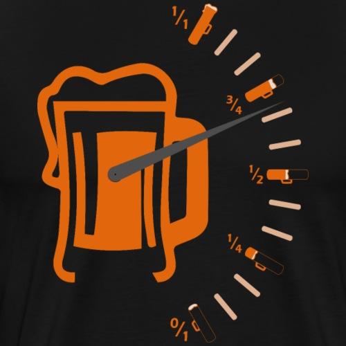 Nivel Depósito de Cerveza Medidor Cerveza Naranja - Camiseta premium hombre