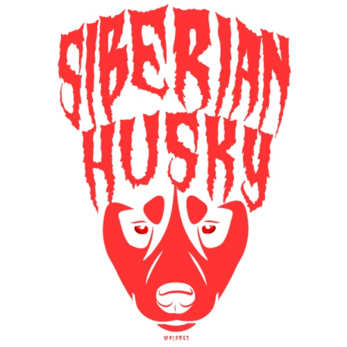 Siberian Husky Red - Miesten premium t-paita