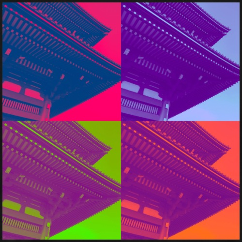 Japanischer Tempel verschiedene Farben - Männer Premium T-Shirt