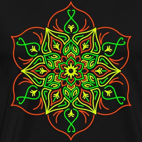 Flor de loto de fuego - Camiseta premium hombre