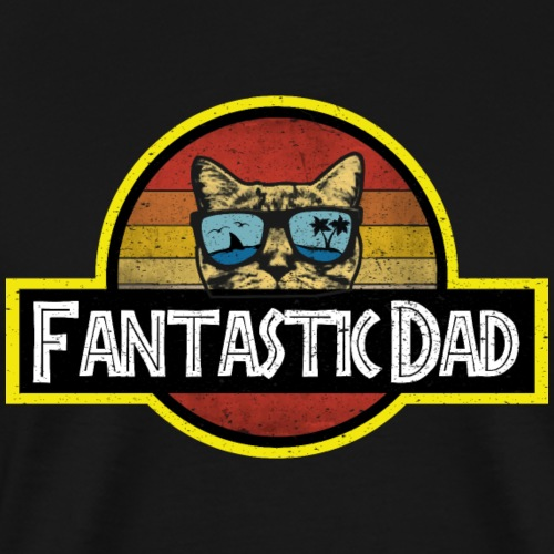Fantastic Cat Dad - T-shirt Premium Homme