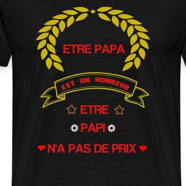 Tee-Shirt manches courtes, être papa c'est un hon