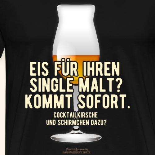 Whisky T-Shirt Eis, Cocktailkirsche, Schirmchen - Männer Premium T-Shirt