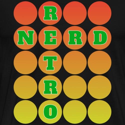 Retro Nerd grün - Männer Premium T-Shirt