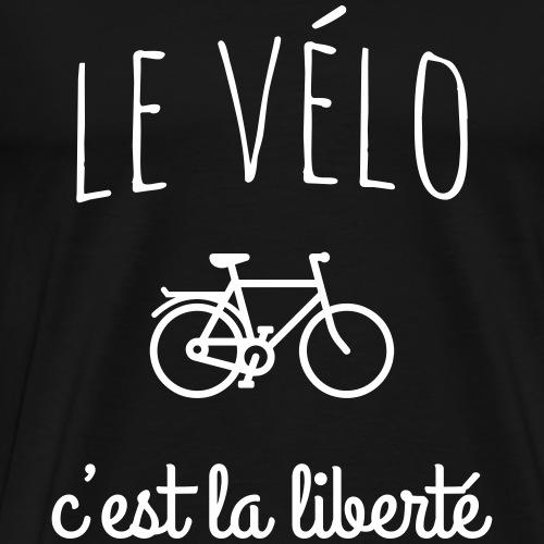 Le vélo c'est la liberté - T-shirt Premium Homme