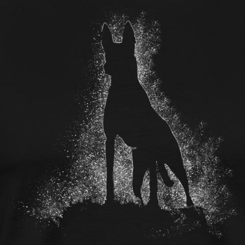 Dog Silhouette - Männer Premium T-Shirt