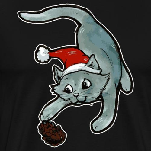 Idée cadeau vilain chat de la forêt Noël chat - T-shirt Premium Homme