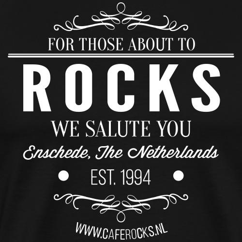 Vintage Rocks Label - Mannen Premium T-shirt