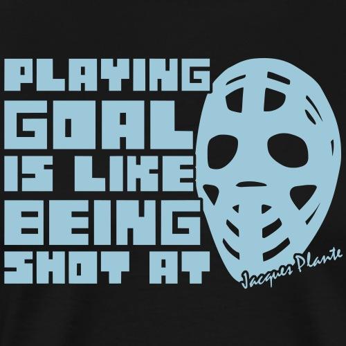 'Playing Goal' Men's Track Jacket - Men's Premium T-Shirt